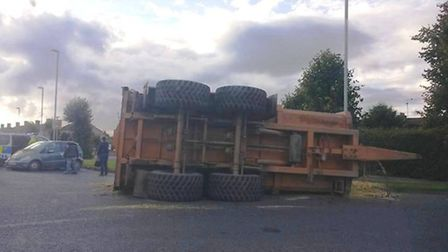 A trailer shed its load on the A141 in March today (October 20).