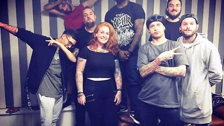 Grey Area staff Stacey O'Hara, Pedro Mendonca, Chris Alcala, James Ruff, Danny Kelly, Tommy Grey and