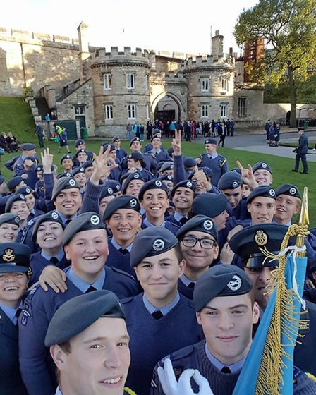 1220 (March) Squadron Air Training Corps on a visit to Lincoln Cathedral recently