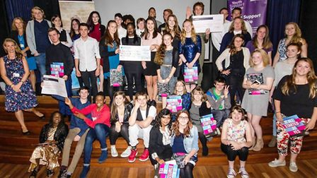 The young people who helped raise more than £3,000 for local charities at their National Citizenship