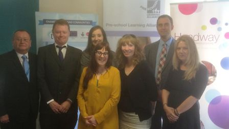 A project to help people back into work is launched. From L to R: Dale Morgan – CEO TCHC, Jamie Conw