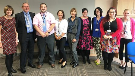 Eight staff members from the Active Learning Event are awarded during the Leading Active Learning e