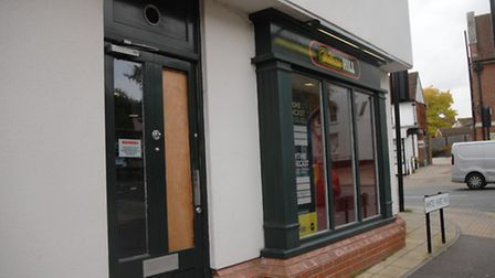 William Hill bookmakers in Dunmow, which was the target of an armed robbery on Saturday (October 22)