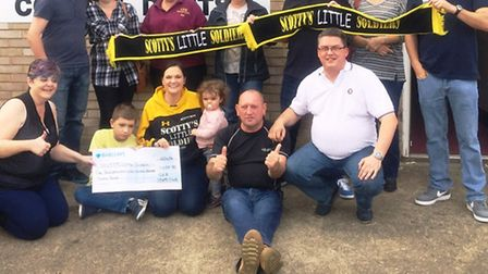 Members of the GER club in March climbed Mt Snowdon to raise money for Scottys Little Soldiers