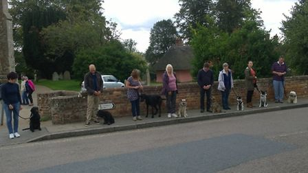 Dogs and owners got their certificates for passing training