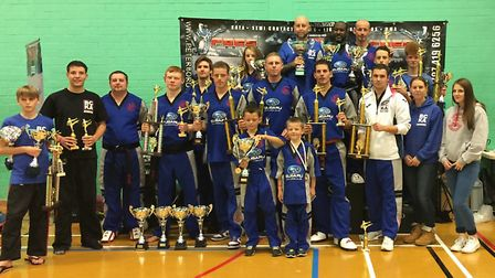Fenland BCKA show off their trophies.