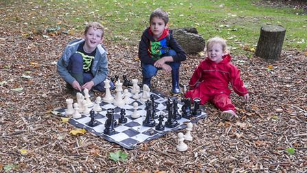 Checkmate: Children play chess at the open day