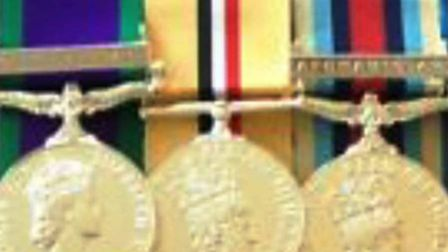 A Northern Ireland General Service Medal, the Iraq General Service Medal and a Afghanistan General S