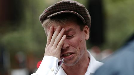 Lauri Love, who is accused of hacking into US Government computers, arrives at Westminster Magistrat