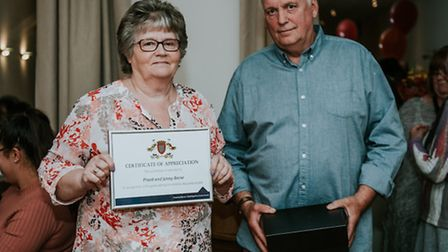 Fostering awards in Fenland Jenny and Frank Snow