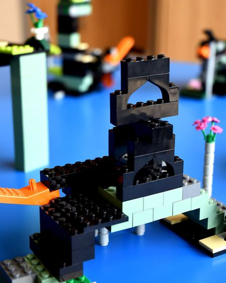 Pupils at the Isle of Ely school used LEGO bricks to construct bridges thanks to construction compan