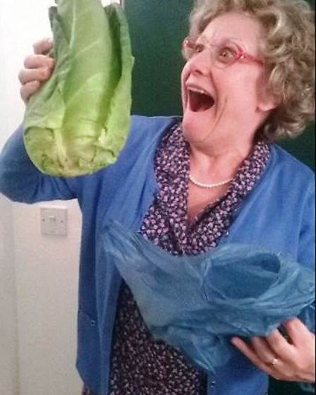 Granny with her cabbage
