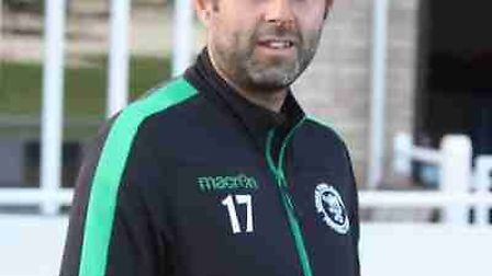 Joint Soham Town Rangers manager, Robbie Nightingale.