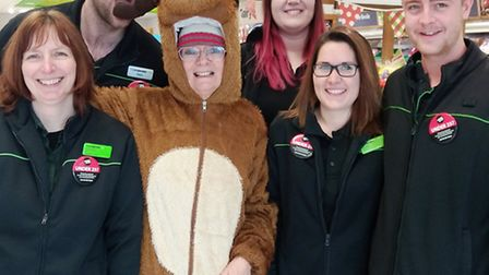 Cathy with Co-op staff in Littleport