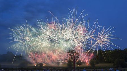 Firework displays at Burghley House