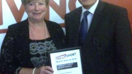 St Peter's Tennis Club Chatteris were runners-up at the Living Sport awards pictured are Shona Kent
