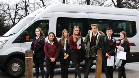 Pupils from the Neale-Wade travel in by special minibus for early morning sessions in subjects inclu
