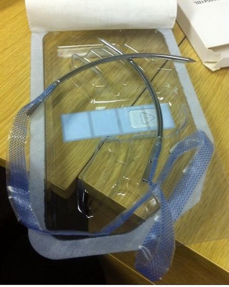 A transvaginal mesh kit used to treat incontinence in women.
