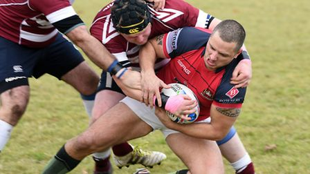 Action from March Bears' 46-13 win over Wisbech 2nds.