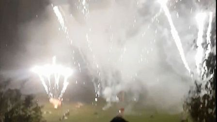 Bystander captures on film the moment a faulty firework exploded in a man's face at Ely's display