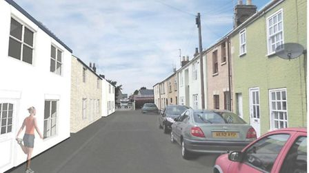 Bernard Street, Ely, proposed site for two homes
