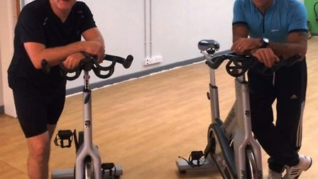 March Fire fighters Wayne Marshall and Tony Raine are doing a charity bike ride to raise money for M