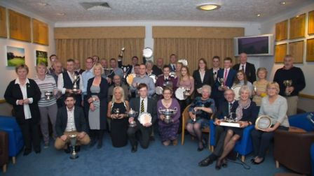The winners at Ely City Golf Club's presentation evening.