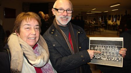 Elaine and Bruce King, son of former player/coach George King. Photo: Mike Rouse
