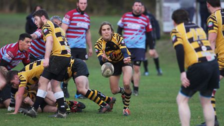 Action from Ely Tigers 2nds' 70-20 defeat to Haverhill & District. Photos: Steve Wells
