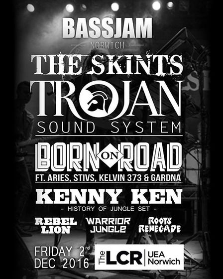 Bassjam Norwich features The Skints andTrojan Sound System
