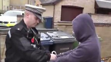 A clip from Cambs Police's mannequin challenge video.