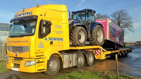 Tractor is brought home thanks to Andrew Downing following a charity run from Land's End to John O'G