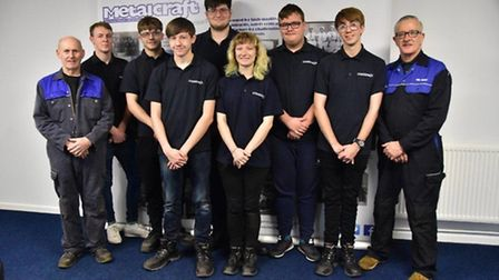 Stainless Metalcraft in Chatteris - seven new apprentices