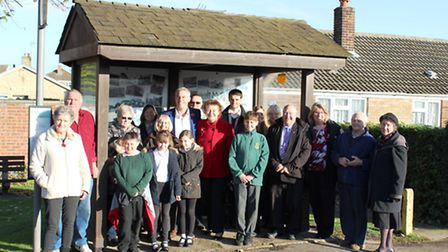 More than 20 people turned up to the opening of the newly-decorated Benwick bus shelter.