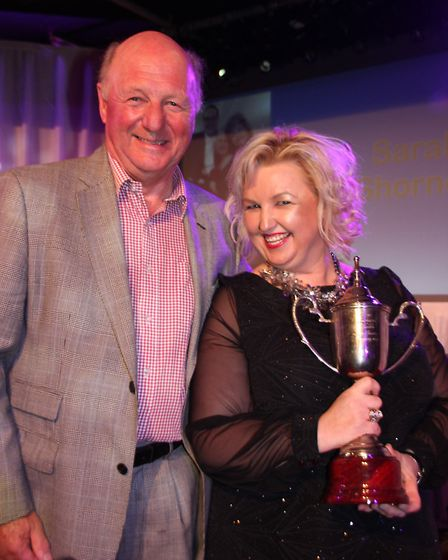 Jim Paice presented Sarah Shorney with the 'company member of the year' award.