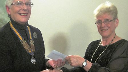 Inner Wheel Club president Mary Rone with Rosemary Westwell.