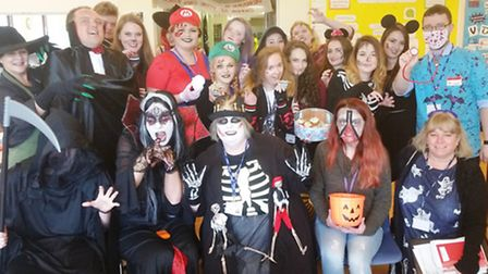 Staff and students in fancy dress