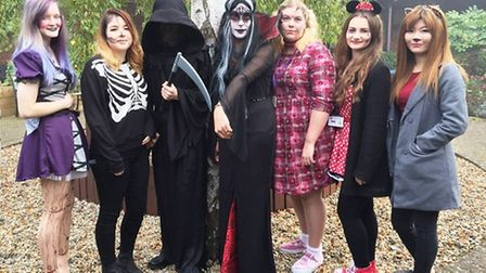 Ely College Sixth Form students dressing diabolically