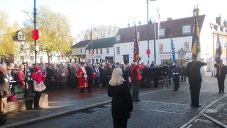 Ely falls silent to commemorate 98th anniversary of the end of WWI