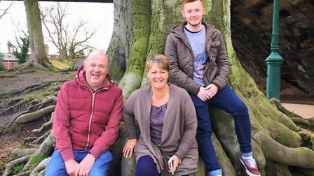 Sharon Street with her son, Ben, and husband, John.