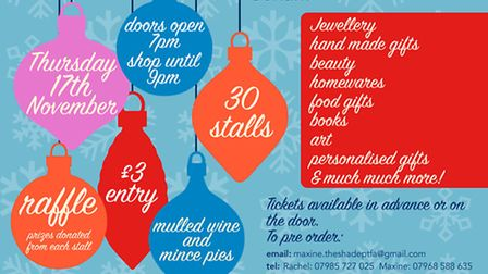 The Shade Primary School in Soham is holding a Christmas gift and craft fair on Thursday November 17