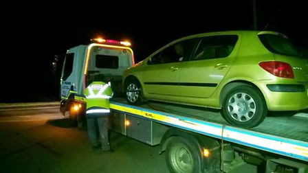 Man arrested on suspicion of drink driving in Coates.