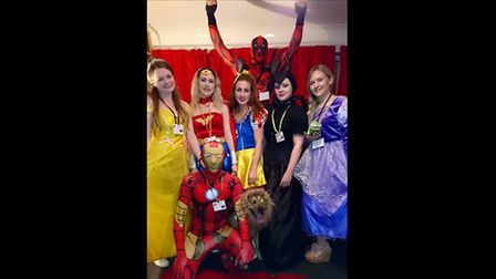 Superheroes were out in March at Halloween led by Dan Martin