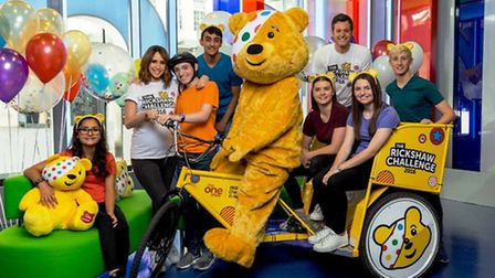 The One Show's Children in Need rickshaw will pass through Ely later this month.