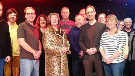 The cast of Viva's 'The Lady in the Van'.