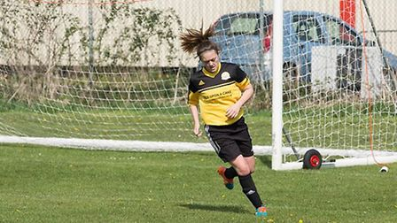 March Town Ladies' Shannon Kelly netted in her final game before she flies to Australia.