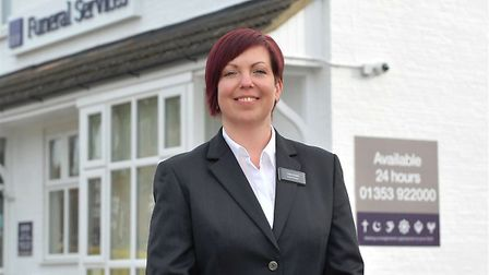 Claire Needs, funeral arranger at the East of England Co-op Funeral Services branch in Ely