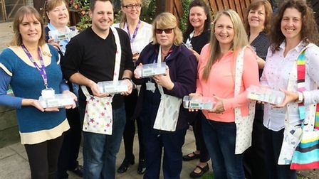 Fundraisers No Gain No Pain UK have handed over eight syringe drivers which will be used by CPFT's c