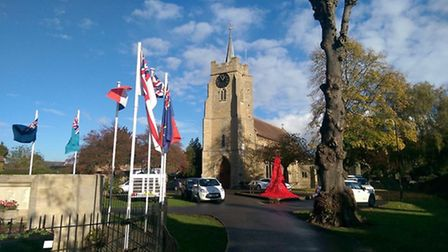 """Chatteris in Bloom's latest project..""""The Fallen""""An installation of knitted and crocheted poppies t"""