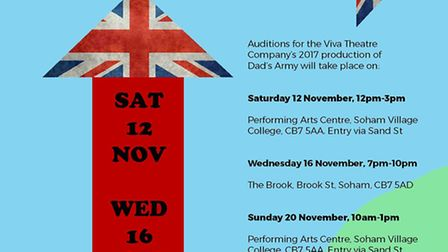 Dad's Army audition dates announced.